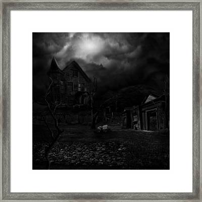 Haunted House II Framed Print by Lisa Evans