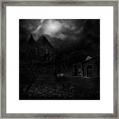 Haunted House II Framed Print by Lisa Evans