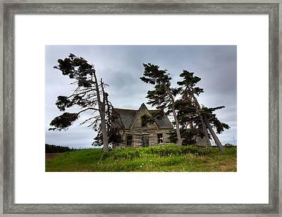 Haunted House Framed Print by Matt Dobson