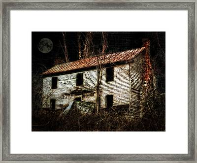 Haunted House On The Hill Framed Print by Kathy Jennings