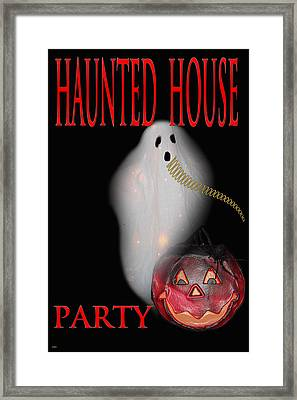 Haunted House Party Framed Print