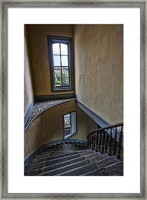 Haunted Meade Hotel Grand Staircase - Bannack Ghost Town - Montana Framed Print by Daniel Hagerman