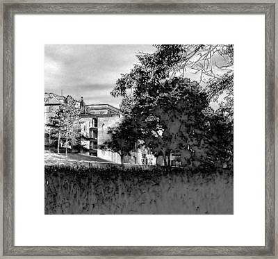 Haunted Salvation Framed Print by Courtney Autrey
