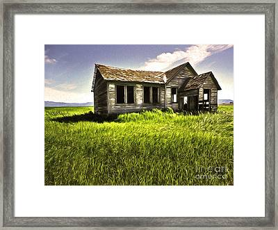 Haunted Shack In Idaho Framed Print by Gregory Dyer