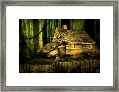 Haunted Shack Framed Print by Lourry Legarde