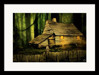 Barn In The Woods Framed Prints