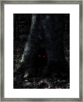 Haunted Tree Framed Print by Walt Stoneburner