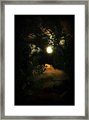 Framed Print featuring the photograph Haunting Moon by Jeanette C Landstrom