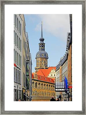 Hausmannsturm - Lookout Of A Castle With Stunning Views Framed Print by Christine Till