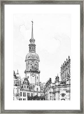 Hausmannsturm In Dresden Germany Framed Print by Christine Till