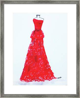 Haute Couture Framed Print by Trilby Cole