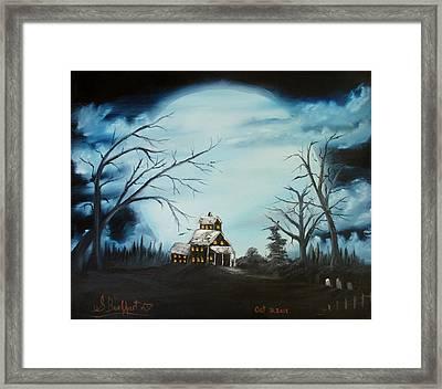 Hauted Mansion 2005  Framed Print by Shawna Burkhart