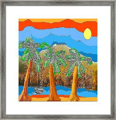 Framed Print featuring the digital art Havana Sunset by Rc Rcd