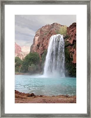 Havasu Waterfall Framed Print by Chris Hill
