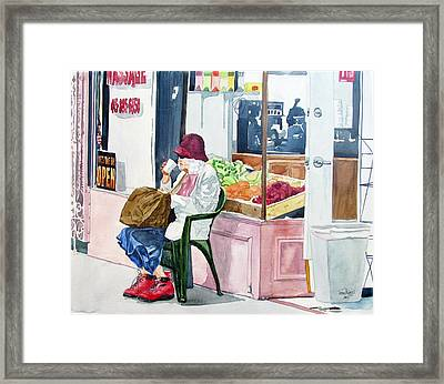 Framed Print featuring the painting Have A Coke And A Smile by Tom Riggs