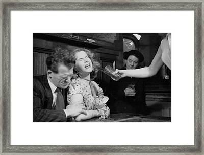 Have A Drink Framed Print by Bert Hardy