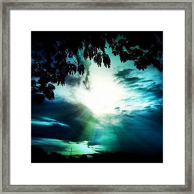 Have A #good #evening #friends Framed Print by Lori Lynn Gager