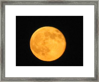 Framed Print featuring the photograph Havest Moon by Shawn Hughes