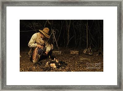 Having Coffee On The Range Framed Print