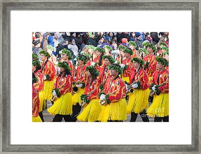 Hawaii All-state Marching Band V Framed Print by Clarence Holmes