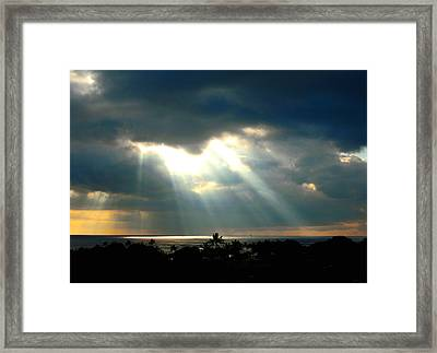 Hawaii Cloud Burst Framed Print