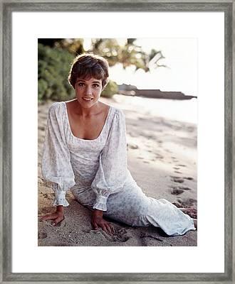 Hawaii, Julie Andrews, 1966 Framed Print