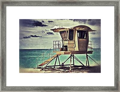 Framed Print featuring the photograph Hawaii Life Guard Tower 1 by Jim Albritton