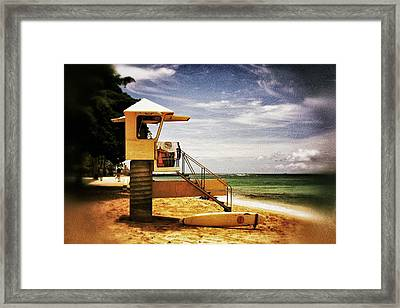 Framed Print featuring the photograph Hawaii Lifeguard Tower 2 by Jim Albritton