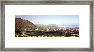 Hawaii Overlook Framed Print