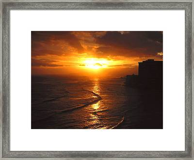 Hawaii Surf Framed Print