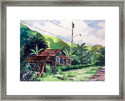 Hawaiian Home Framed Print by Jon Shepodd