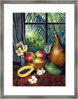 Hawaiian Still Life Framed Print by Anne Wertheim