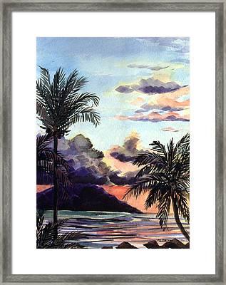 Hawaiian Sunset Framed Print by Jon Shepodd