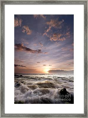 Hawaiian Sunset South Maui Framed Print by Dustin K Ryan
