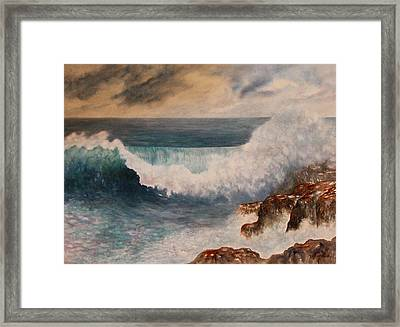 Framed Print featuring the painting Hawaiian Wave by Kerri Ligatich