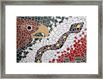 Hawk And Snake Mosaic Framed Print by Carol Leigh