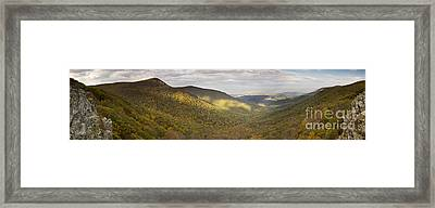 Hawksbill Mountain And Newmark Gap From Crecent Rock Overlook Framed Print by Dustin K Ryan
