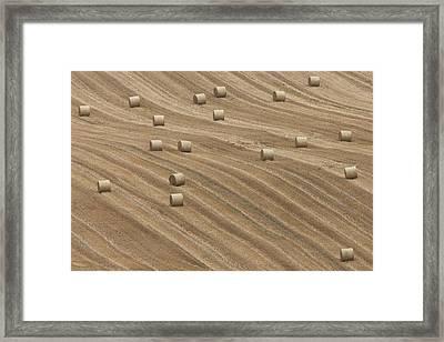 Hay Bales Framed Print by Chris Brocklebank