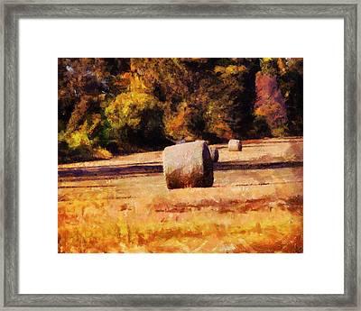 Hay Bales Framed Print by Jai Johnson