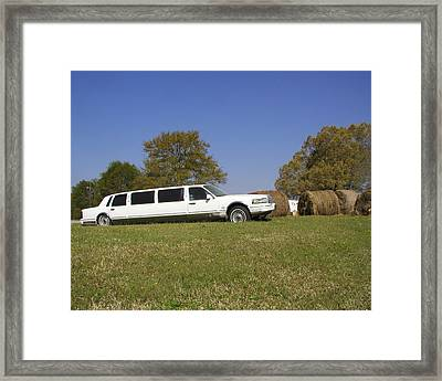 Framed Print featuring the photograph Hay Business by Steve Sperry