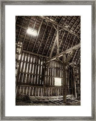 Hay Loft Framed Print by Scott Norris