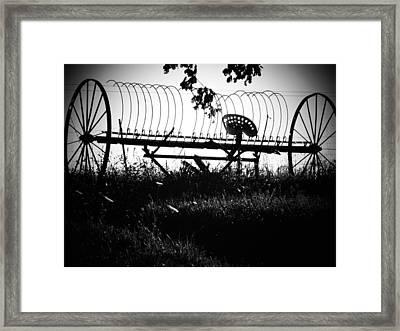 Hay Rake Framed Print by Joyce Kimble Smith