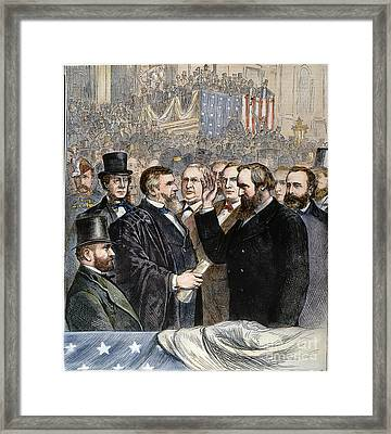 Hayes Inauguration Framed Print by Granger