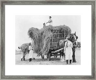 Hayfield Girls Framed Print by Maeers