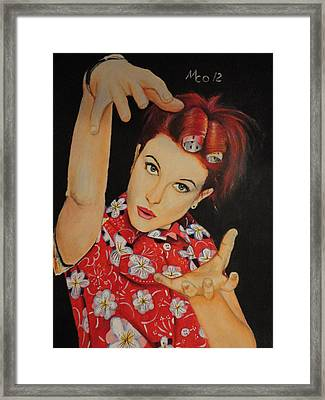 Hayley Williams Portrait Framed Print by Michael Co