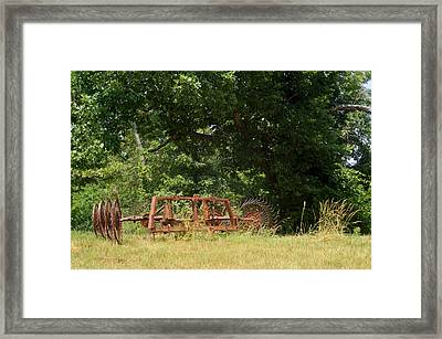 Hayrake Put Out To Pasture 2 Framed Print