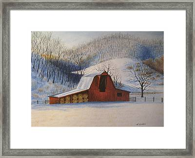 Hay's In Framed Print by James Clewell