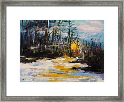 Hazy Nightfall Framed Print by John Williams