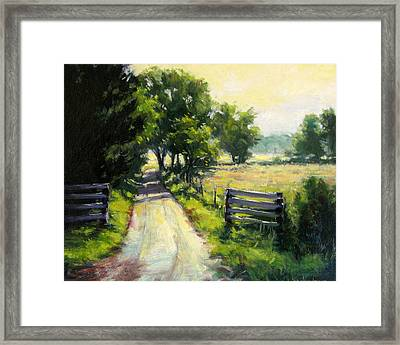 Hazy Summer Day Framed Print by Vickie Fears