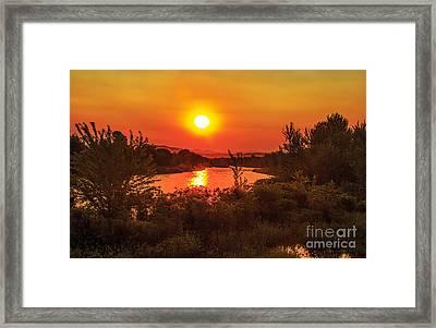 Hazy Sunrise Framed Print by Robert Bales
